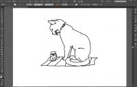 Illustratorでスキャンした画像を簡単にトレースしてアウトラインを一本にする方法