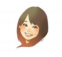 似顔絵を描く~フリーアナウンサーの名刺制作~
