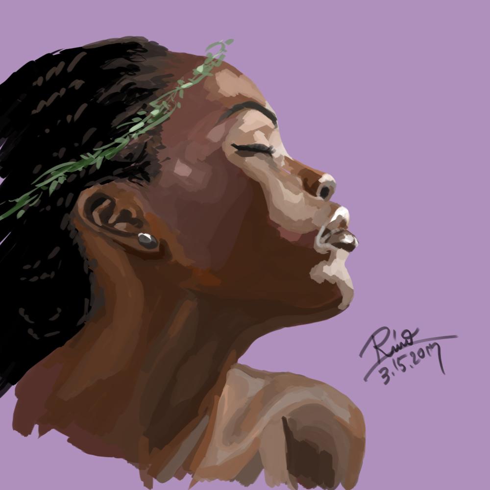 【花冠シリーズ】黒人女性横顔