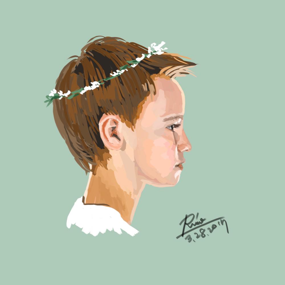 【花冠シリーズ】少年の横顔