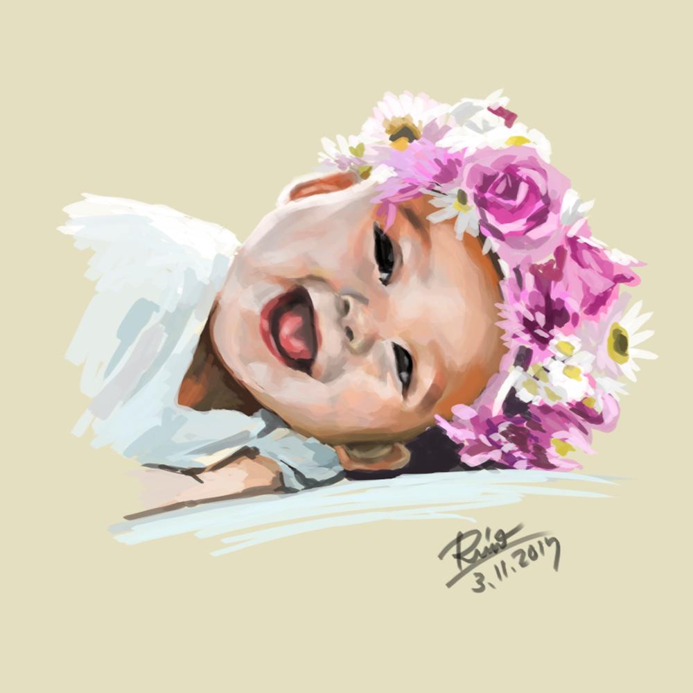 【花冠シリーズ】笑顔の男の子