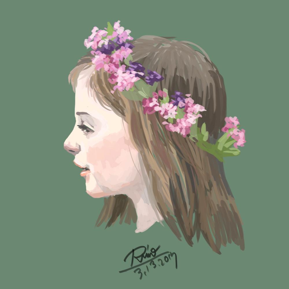 【花冠シリーズ】少女の横顔