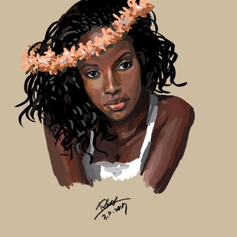 【花冠シリーズ】黒人女性