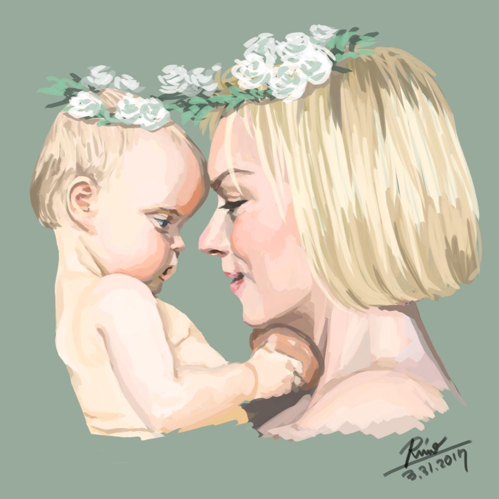 【花冠シリーズ】お赤ちゃんとお母さん